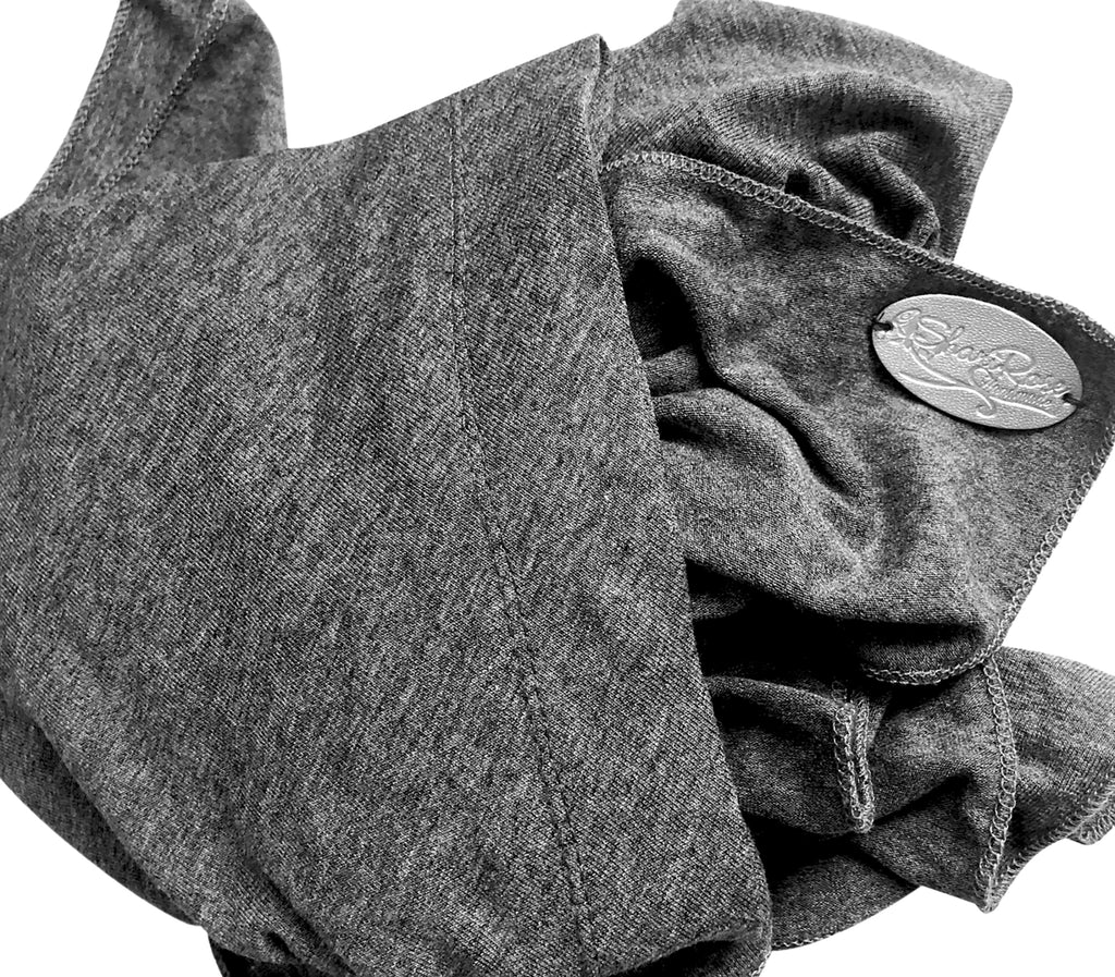 Charcoal grey soft cotton headscarf