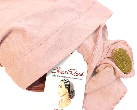 Soft cotton champagne pink headscarf