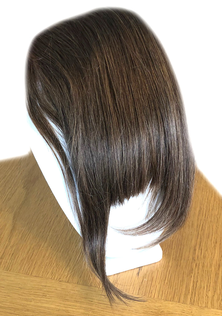 Clip in bangs hair extension mini wig 100% real human (Light brown)
