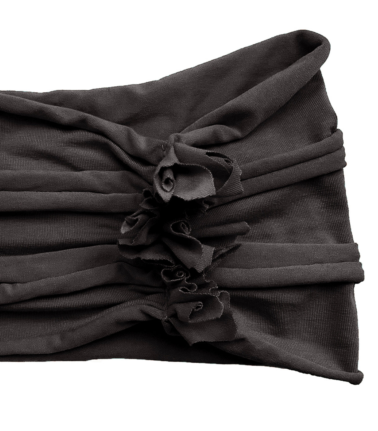 Dark slate gray turban headband