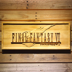 Final Fantasy VII Wooden Sign