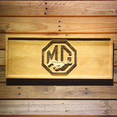 Ford MG Mustang Wooden Sign