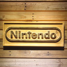 Nintendo Wooden Sign