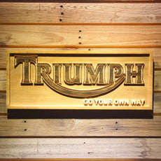 Triumph 2 Wooden Sign