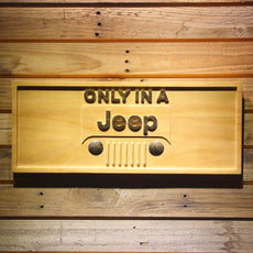 Jeep Wooden Sign