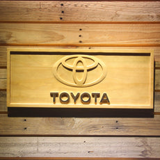 Toyota Wooden Sign