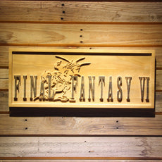 Final Fantasy VI Wooden Sign