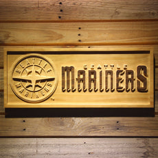 Seattle Mariners Wooden Sign