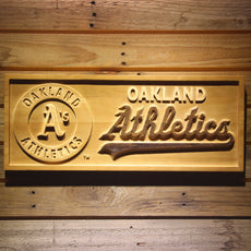 Oakland Athletics Wooden Sign