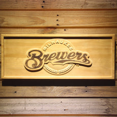 Milwaukee Brewers Wooden Sign