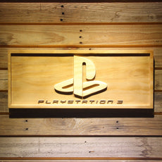 Playstation 3 Wooden Sign