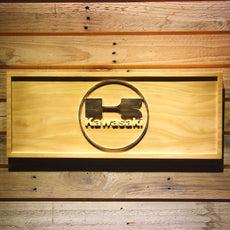 Kawasaki Wooden Sign