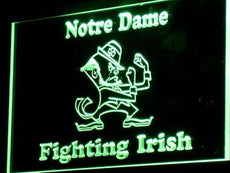 Notre Dame Fighting Irish Football LED Sign