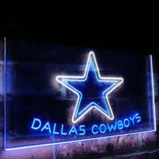 Dallas Cowboys Star Duo LED Sign