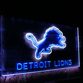 Detroit Lions Duo LED Sign