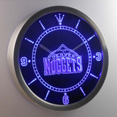 Denver Nuggets LED Wall Clock