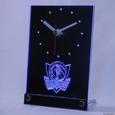 Dallas Mavericks LED Desk Clock