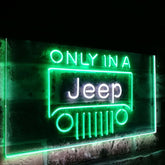Jeep Logo Duo LED Sign