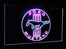 Ford Mustang Badge Duo LED Sign