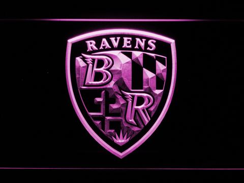 Baltimore Ravens Shield Logo LED Sign