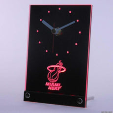 Miami Heat LED Desk Clock