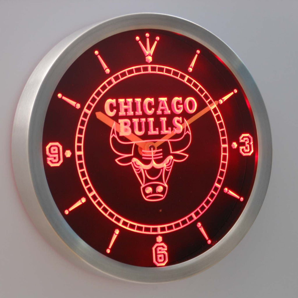Chicago Bulls LED Wall Clock