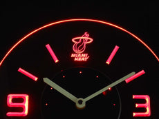 Miami Heat LED Clock