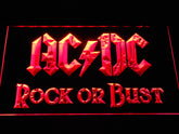 AC DC Rock or Bust LED Sign