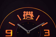 The Beatles 2 LED Clock