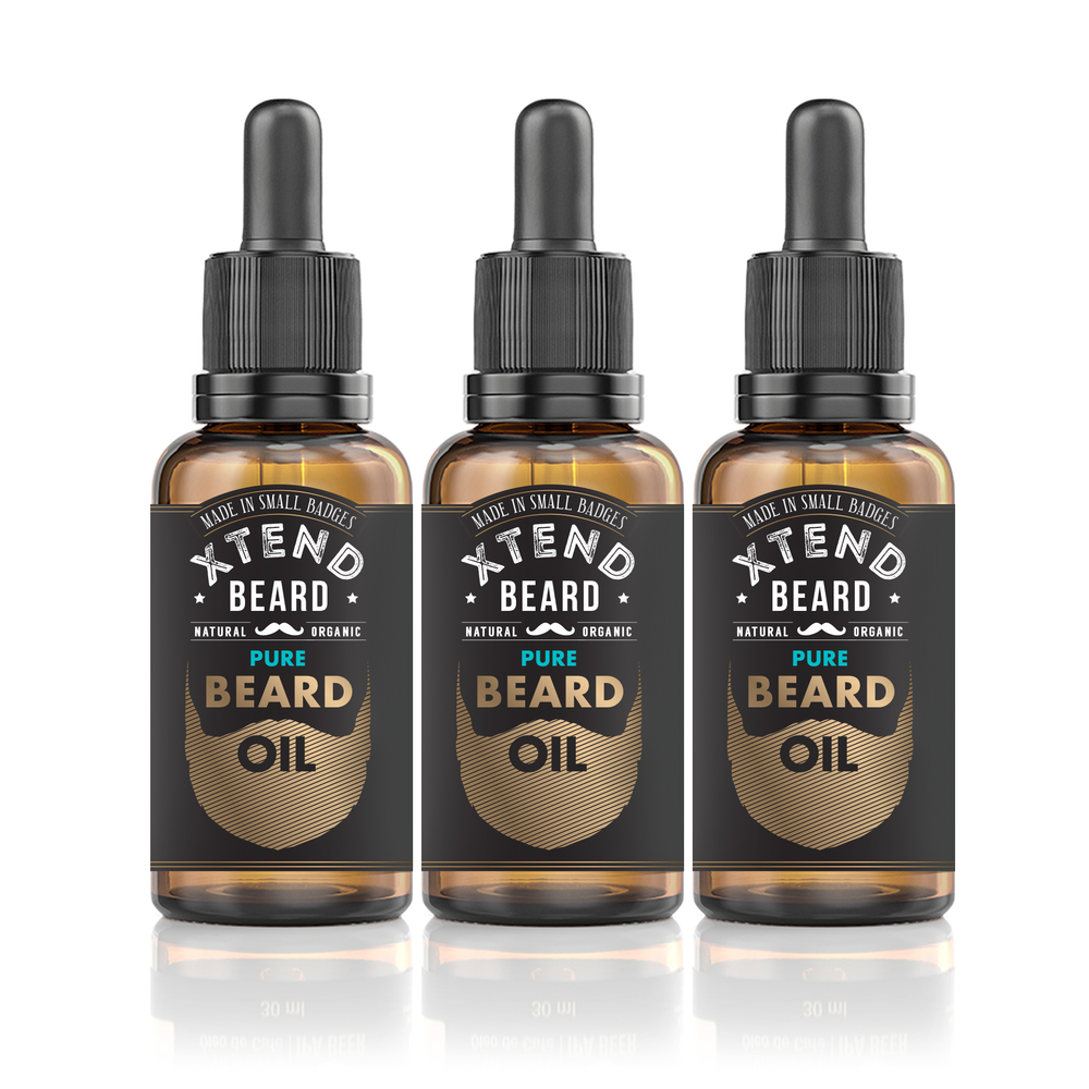 Pure Beard Oil 3-Pack