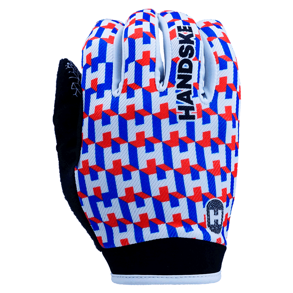 Now You See Me - Red Cycling Gloves