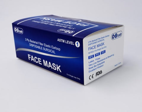 100 Count Level 1 Surgical 3-ply Masks