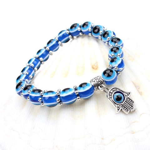 Evil Eye hand bracelet to protect you from bad Karma