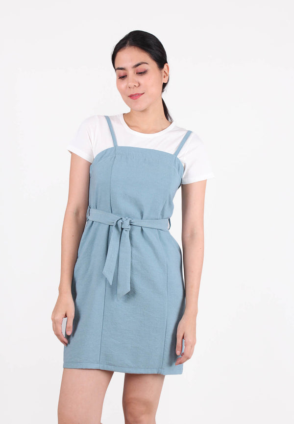 APPLEMINTS Pinafore Mini Dress with Top