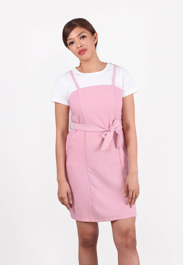 Pinafore Mini Dress with Top