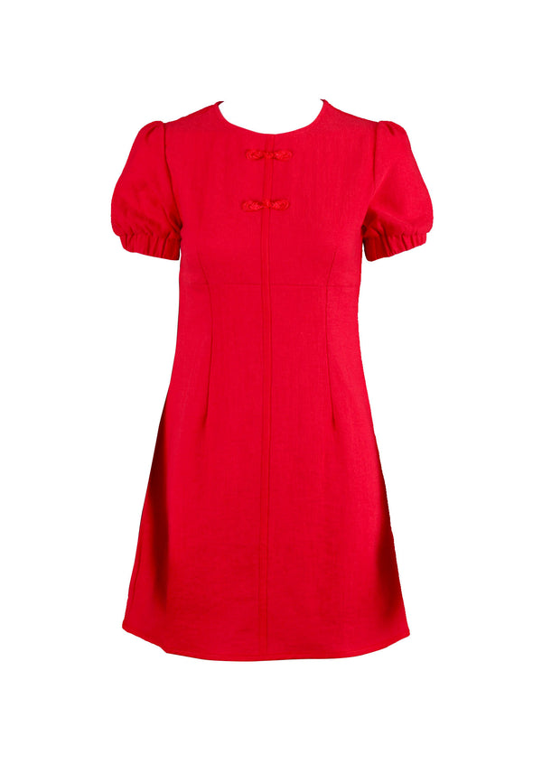 APPLEMINTS Modernised Short Puff Sleeve Cheongsam