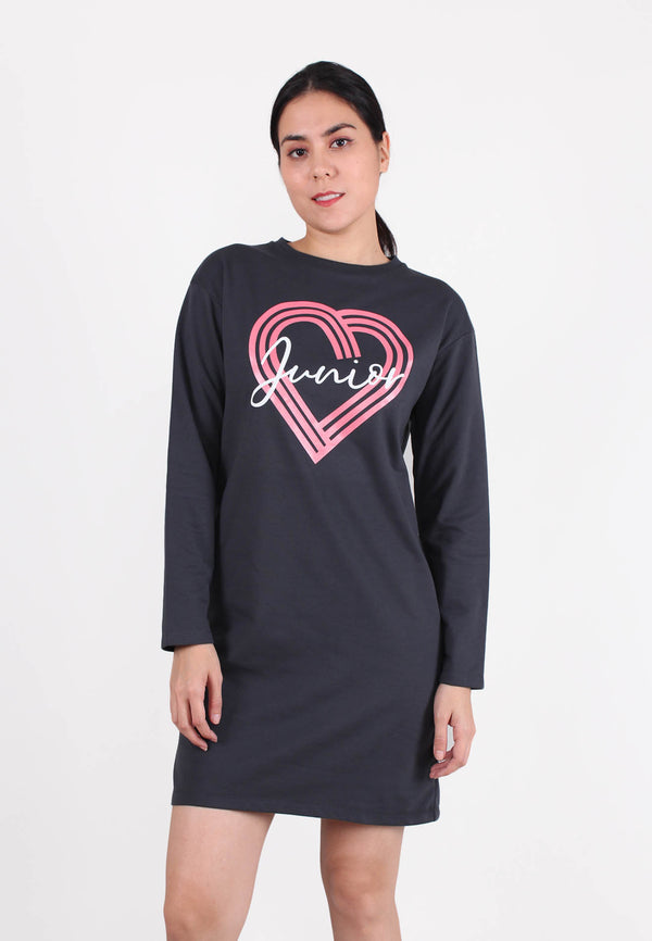 Long Sleeve ''Junior'' Cozy Sweater Dress