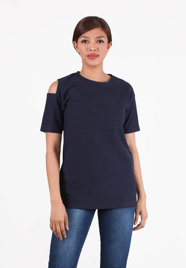APPLEMINTS Shoulder Cutout T-Shirt
