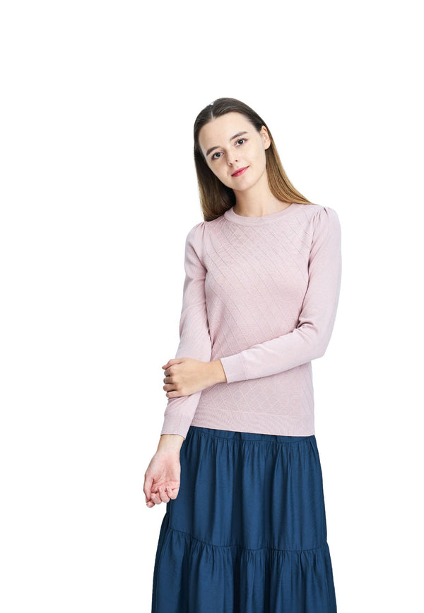 DAISY By VOIR Round Neck Yarn Knit Top