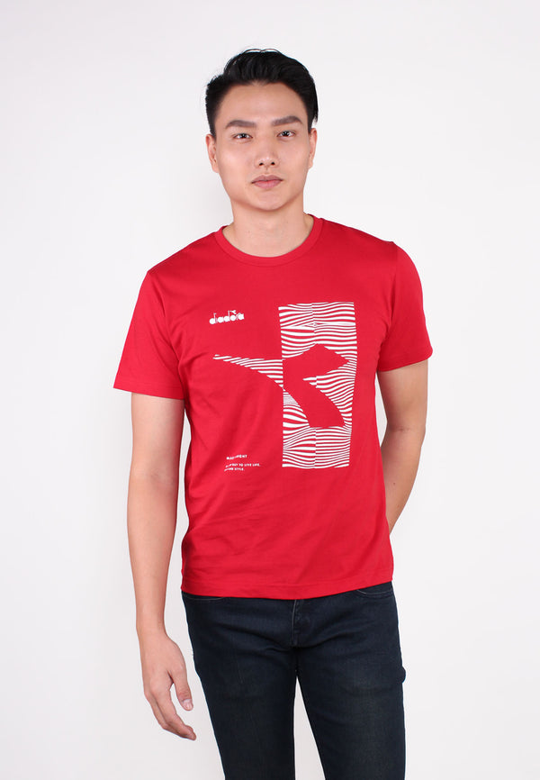 DIADORA Logo With Zebra Graphic Printed T-Shirt