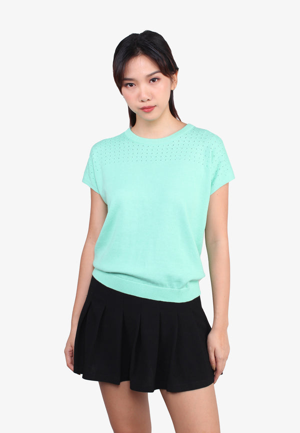 SODA Women Short Sleeve Knit Wear Top