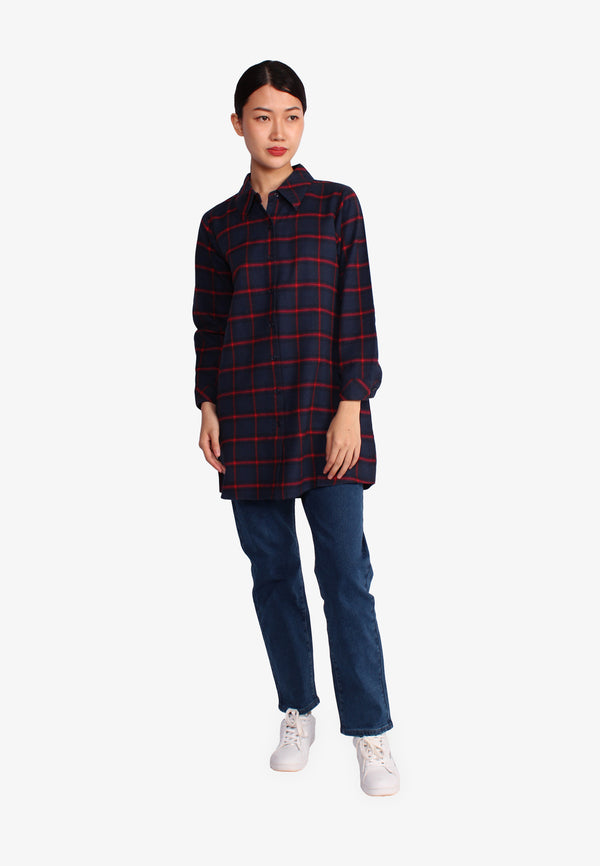 Buffalo Check Collar Top