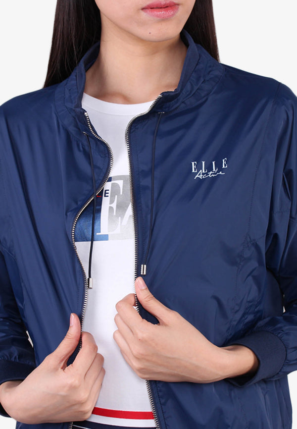 ELLE Active Lightweight Drawstring Zipper Jacket