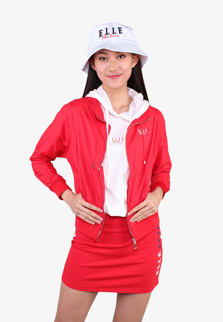 Lightweight Drawstring Zipper Jacket