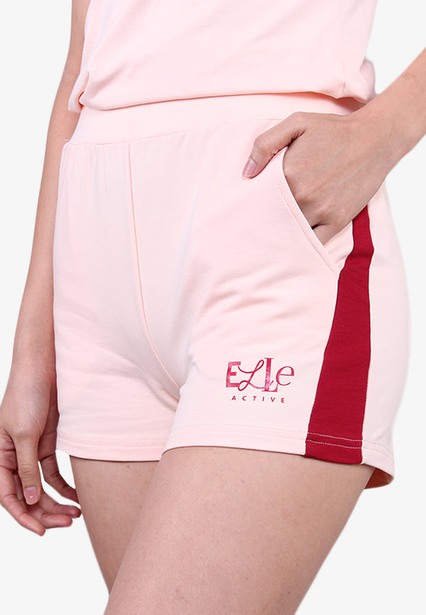 ELLE Colorblock Pockets Shorts