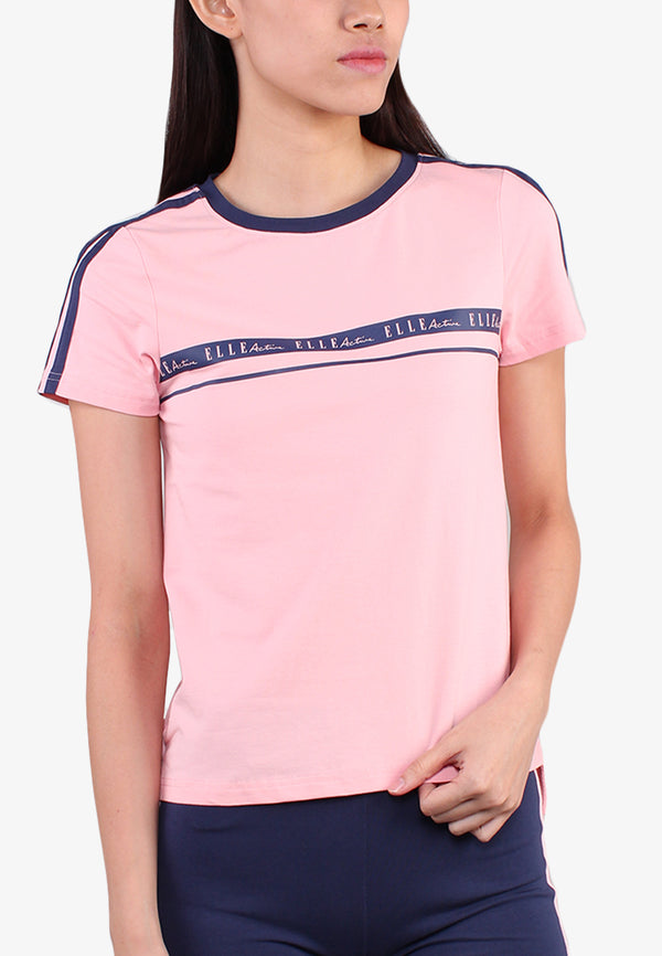 ELLE Active Crew Neck Active Wear Top