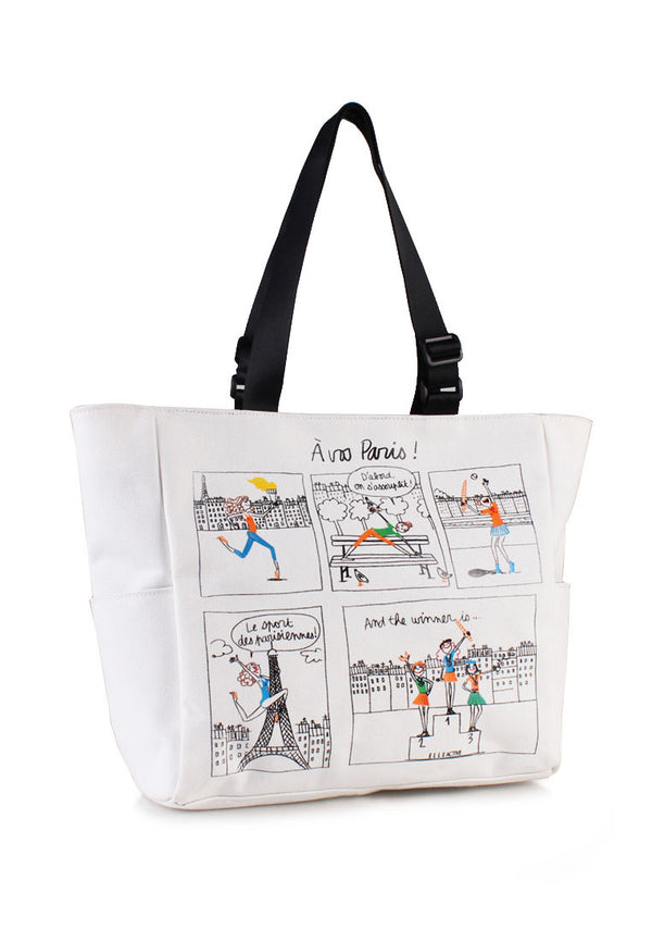 ELLE Active Canvas Tote Bag