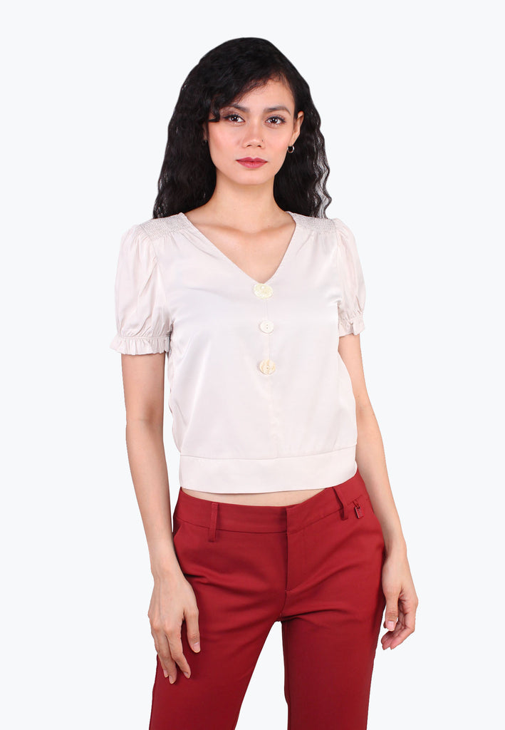 Puffed Deep-V Buttons Top