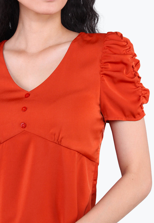 Puffed Balloon Sleeves Top