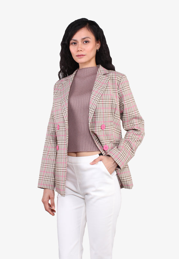 Relaxed Fit Double Breasted Jacket
